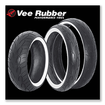 Vee Rubber Whitewall Tires